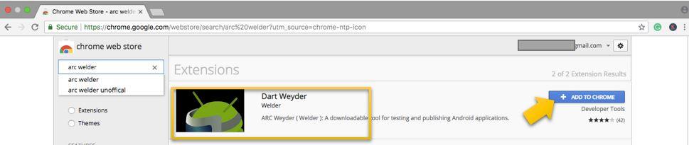Add Arc Welder to Chrome on Mac