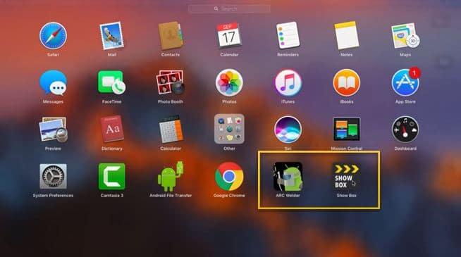 Install Showbox on Mac OS Using Ark Welder