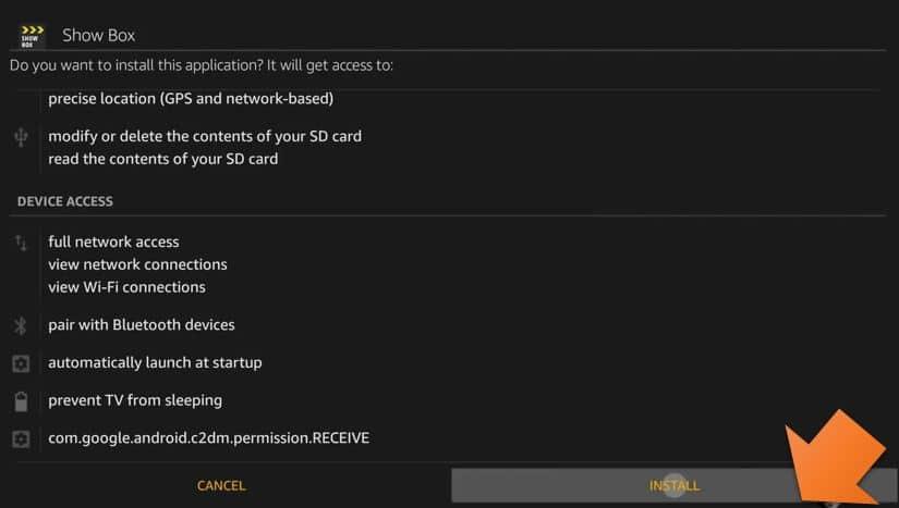 Install Showbox using Downloader on Firestick