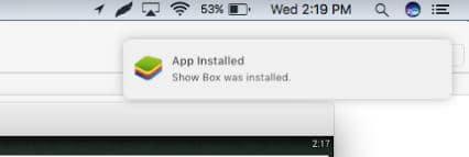 Installation notification