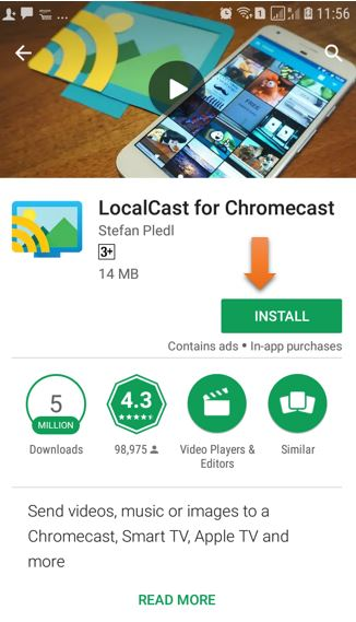 Localcast for Chromecast on Android