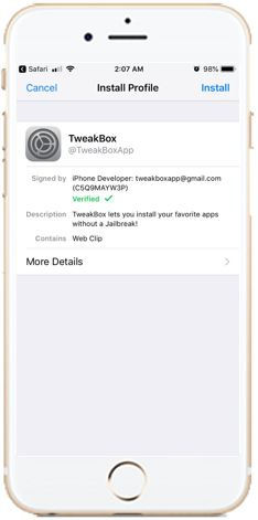 Install Tweakbox profile