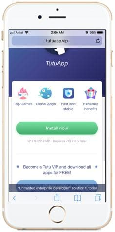 Tutuapp Official website