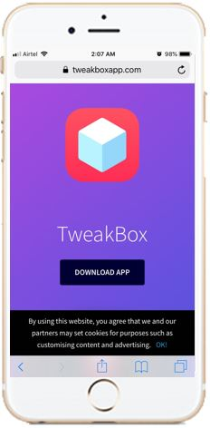Visit Tweakbox official website