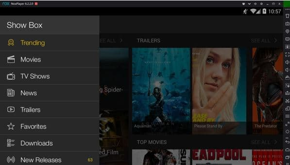 Watch Showbox on PC using Nox App Player